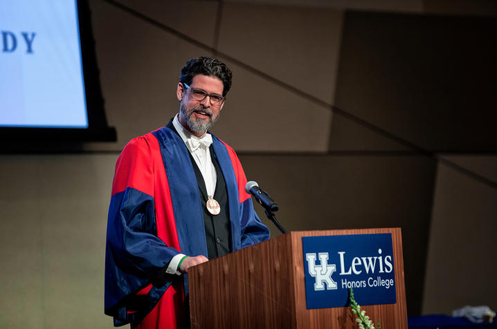 photo of UK Lewis Honors College Dean Christian Brady