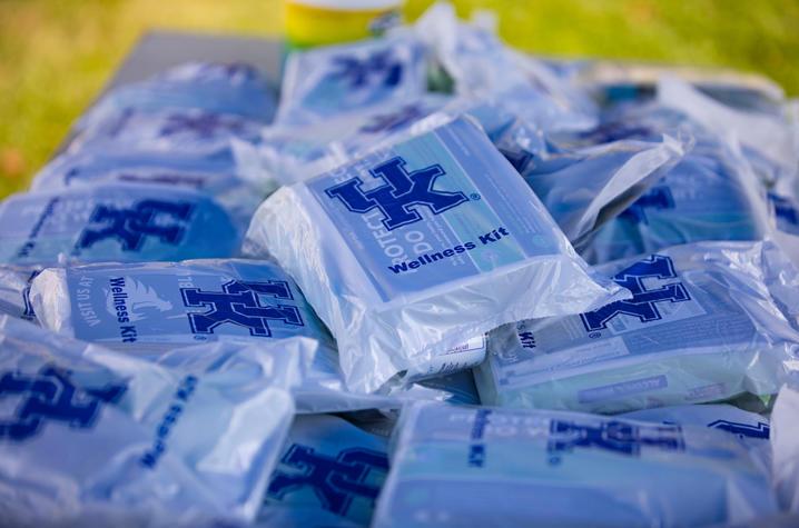 photo of a pile of wellness kits