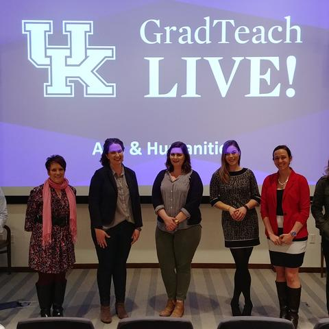 """Pictured from left, Francisco Luque, Kateri Kate Miller, Jannell McConnell Parsons, Kathryn Kohls, Malinda """"Lindy"""" Massey, Corinne Gressang, and Kayla Bohannon."""