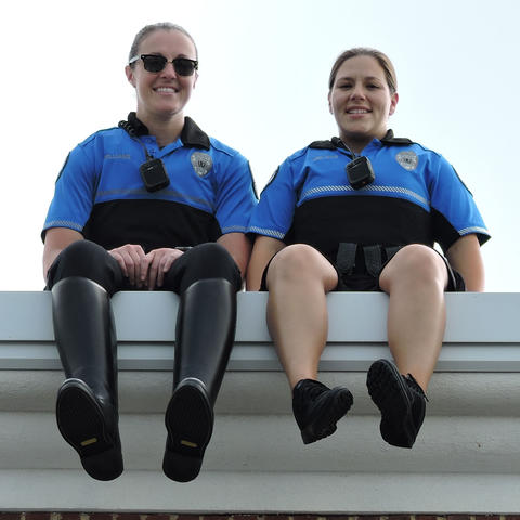UK Police on a rooftop