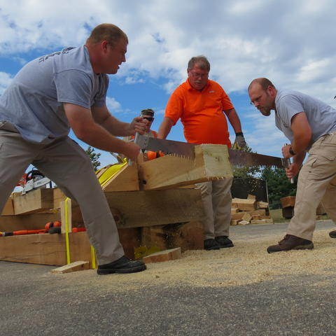 The Police/Fire Competition at the 2015 KY Wood Expo