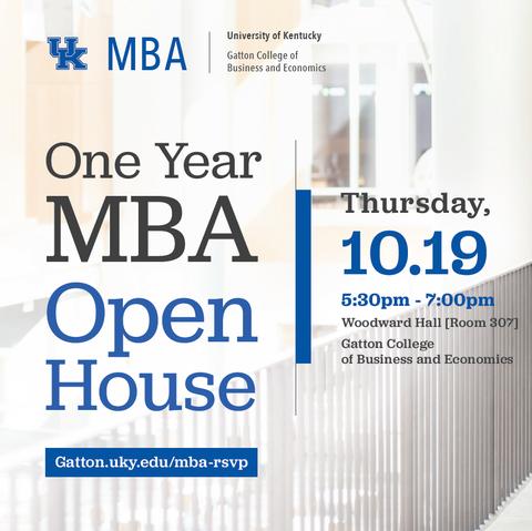UK One Year MBA Open House
