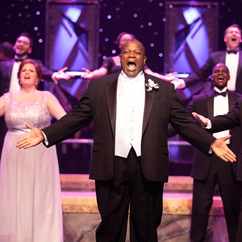 "photo of cast members singing in ""It's a Grand Night for Singing!"" 2017"