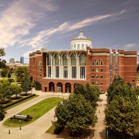 photo of William T. Young Library main entrance