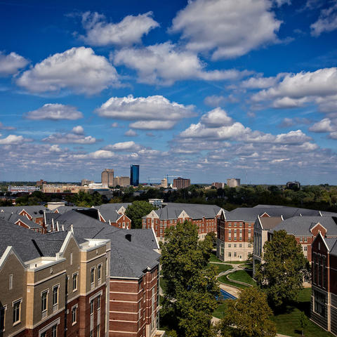 photo of campus and Lexington