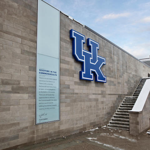 photo of student center wall