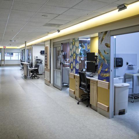 photo of NICU hallway