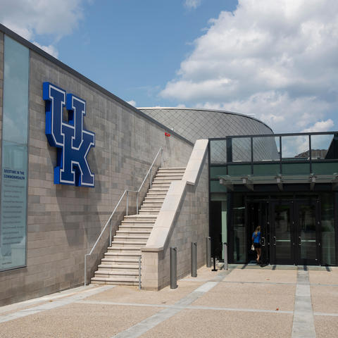 This is an exterior photo of UK's Gatton Student Center.
