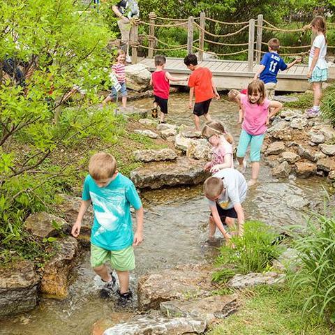 Kids at Children's Garden