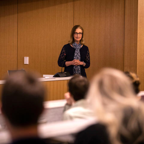This is a photo of UK College of Public Health Dean Donna Arnett.