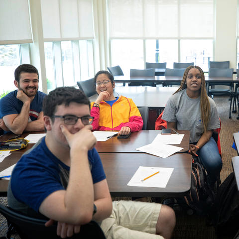This is a photo from a classroom in the Lewis Honors College at the University of Kentucky.