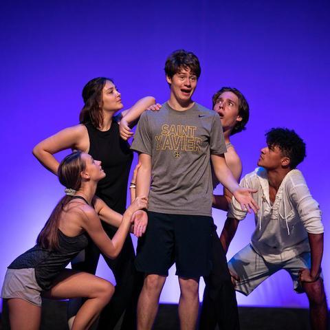 photo of 5 dancers rehearsing at 2019 GSA