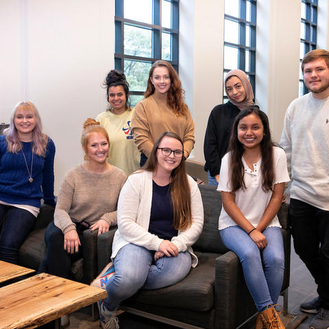Photo of first-generation students at UK