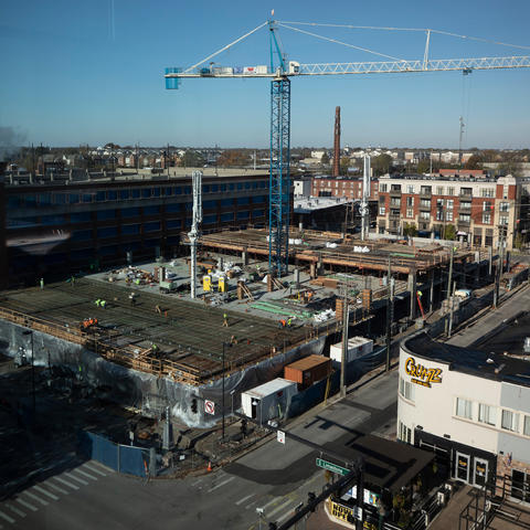 photo of construction project on Winslow Street.