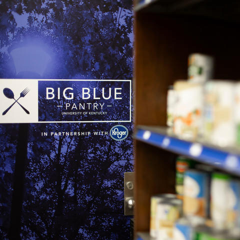 Big Blue Pantry logo in distance