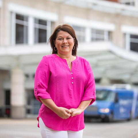 Jill Blake outside of UK Chandler Hospital. Pete Comparoni   UK Photo