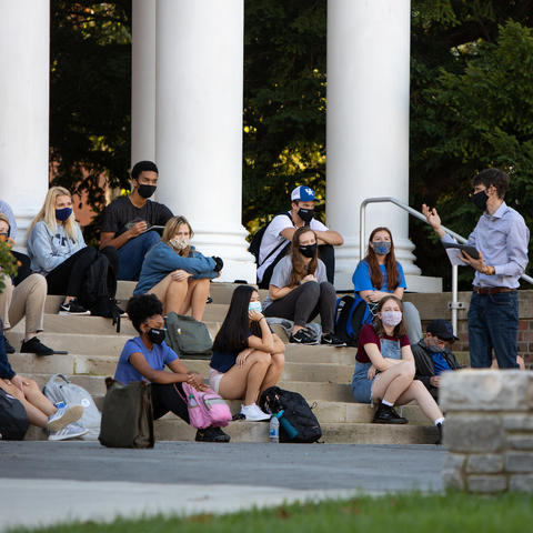 Photo of outdoor class