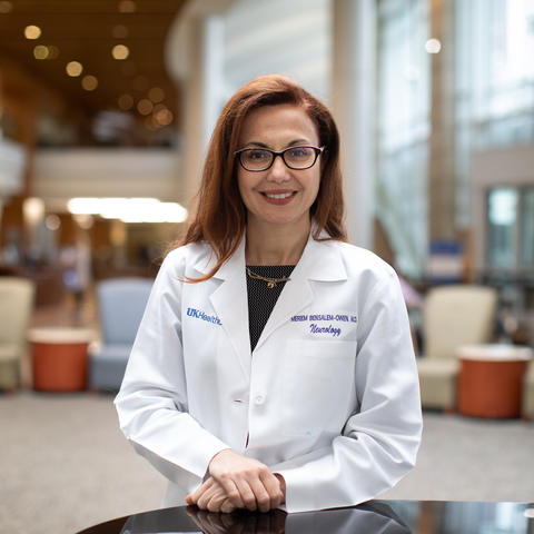 Dr. Meriem K. Bensalem-Owen is a professor of neurology and the director of UK HealthCare's Epilepsy Program on October 26, 2020. Photo by Mark Cornelison | UKphoto