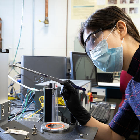 Dr. Yangyang Wu, in the UK Brazing lab.