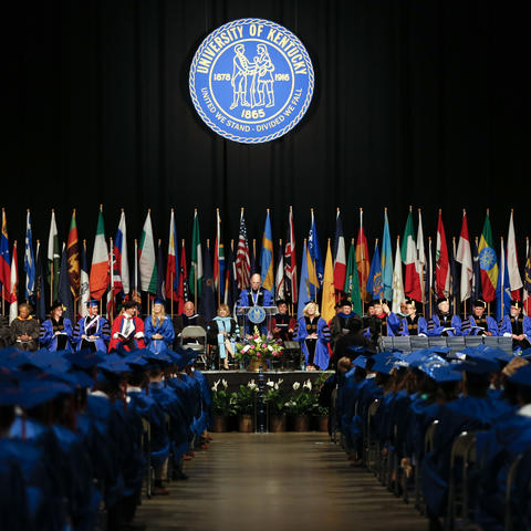 photo of commencement stage