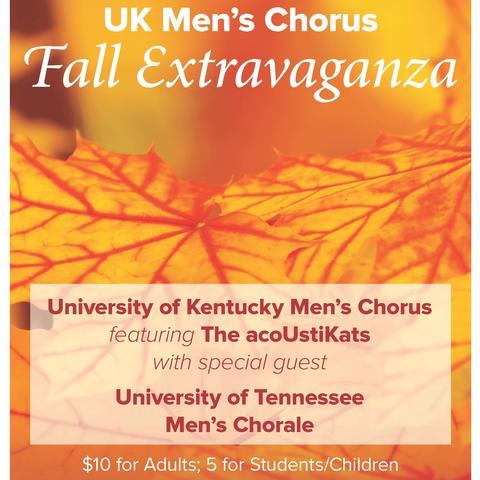 photo of UK Men's Chorus Fall Extravaganza poster