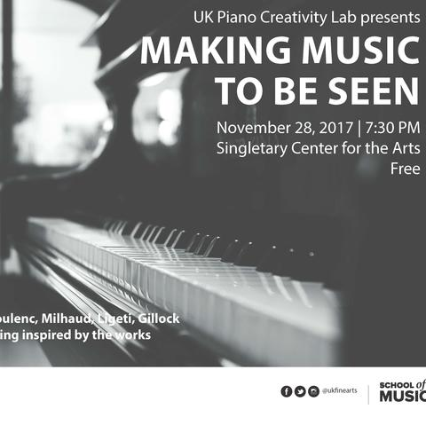 "photo of ""Making Music to Be Seen"" poster"
