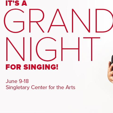 "photo of ""It's a Grand Night for Singing!"" ad with Clark"