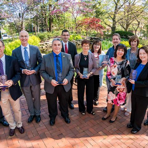 2018-2019 University Research Professors group photo