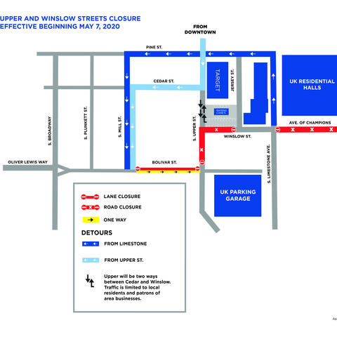 map of street closures