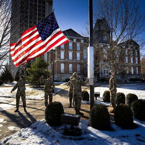 photo of Iwo Jima remembrance ceremony