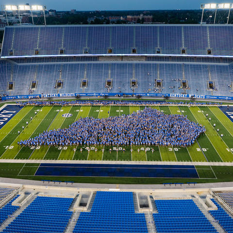 This is a photo of the Class of 2025 class picture on August 20, 2021.