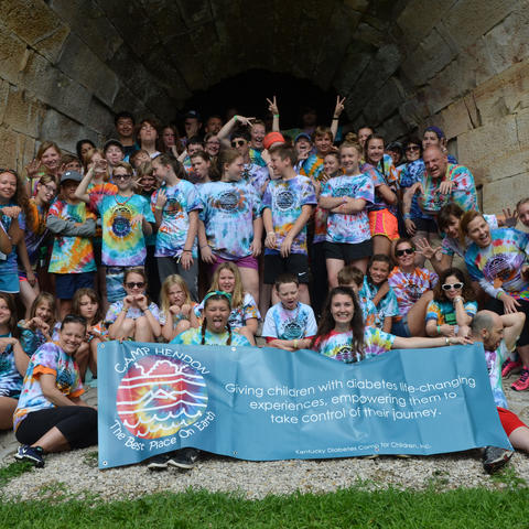 Gettler and Gipson volunteered at Camp Hendon, a summer camp for children with T1D   Photo courtesy of Megan Cooper