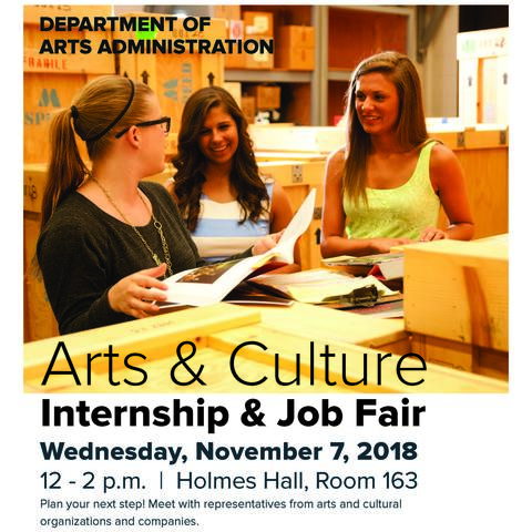 photo of Arts & Culture Internship and Job Fair poster