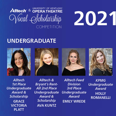photo of 2021 undergraduates of Alltech Vocal Scholarship Competition