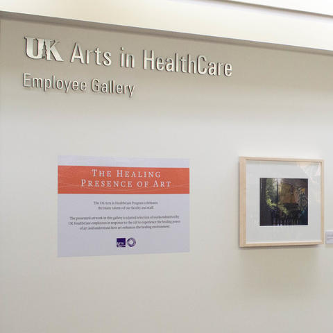 Employee art gallery in Chandler Hospital