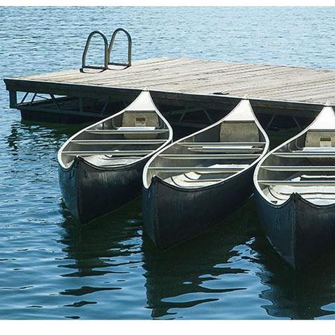 Canoes off a Lake Cumberland dock