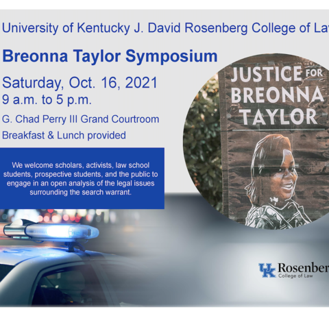 Digital flyer with details of Breonna Taylor Symposium
