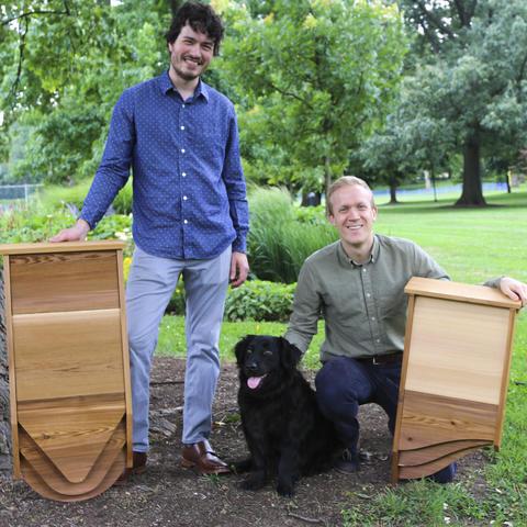 Harrison Broadhurst (left) with his business partner Chris Rannerfors.