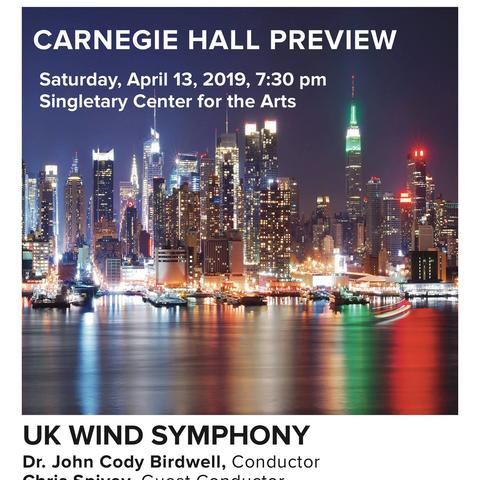 "photo of ""Carnegie Hall Preview"" poster"