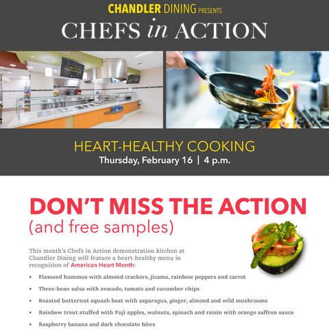 "Don't miss UK HealthCare's ""Chefs in Action"" on Thursday Feb. 16 at 4:00 pm"