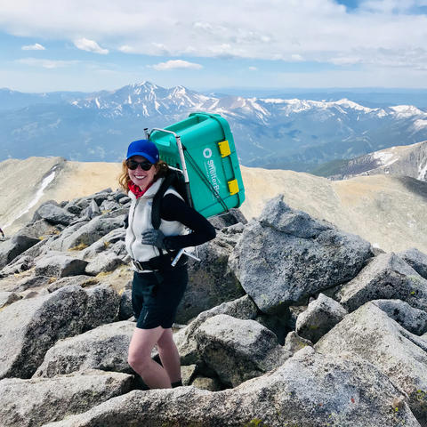 photo of Brittney Woodrum on Mt. Shavano