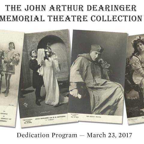 photo of cover of Dearinger Collection program