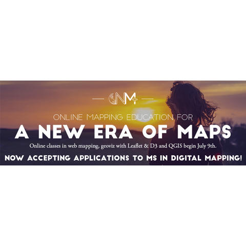 digital mapping web banner - a new era of maps