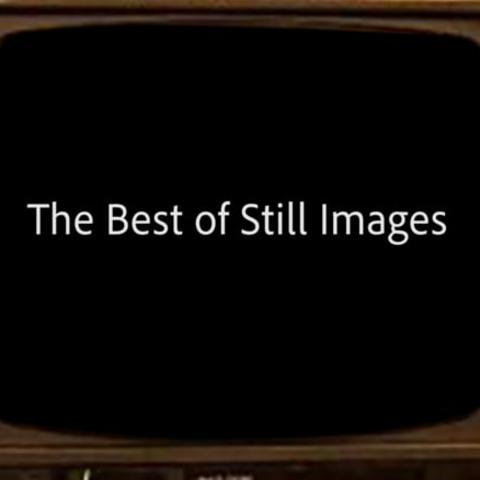 photo of Digital Media Blast - The Best of Still Images video open of old school TV