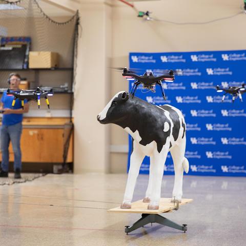 Photo of UAV test flight