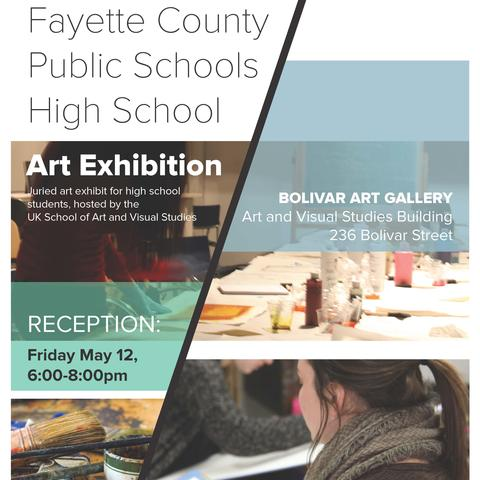 photo of Fayette County Public Schools High School Art Exhibit poster