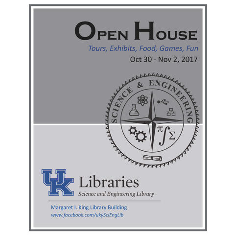 photo of Science and Engineering Library open house poster