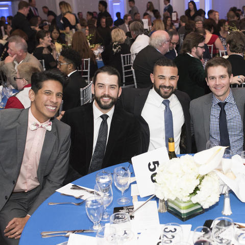 2017 Feast on Equality attendees John Eric Novosel-Lingat, Weston Lyons, Raul Vasquez, James Smith, Josh Combs and Nathan Novosel.