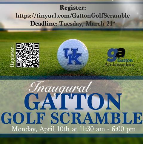 Gatton Golf Scramble flier
