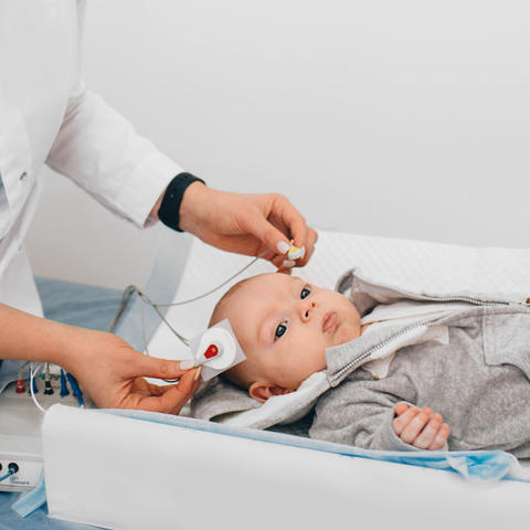 Diagnostic hearing testing for infants